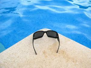 1 sunglasses and pool